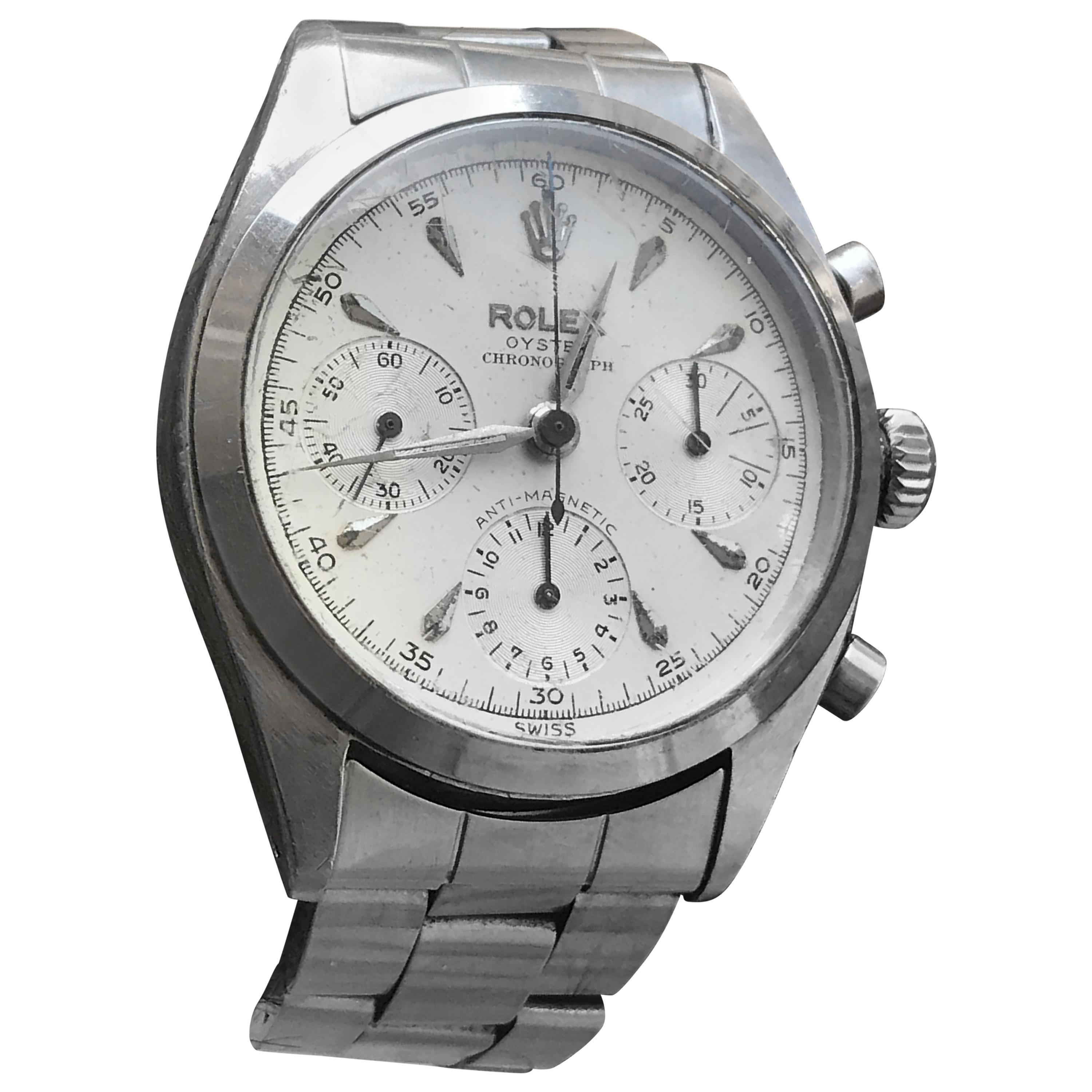 64fae0f3fcd Rolex Men's Stainless Steel 6234 Pre Daytona Anti Magnetic For Sale at  1stdibs