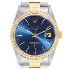 Rolex Men's Steel Yellow Gold Blue Dial Men's Watch 15223