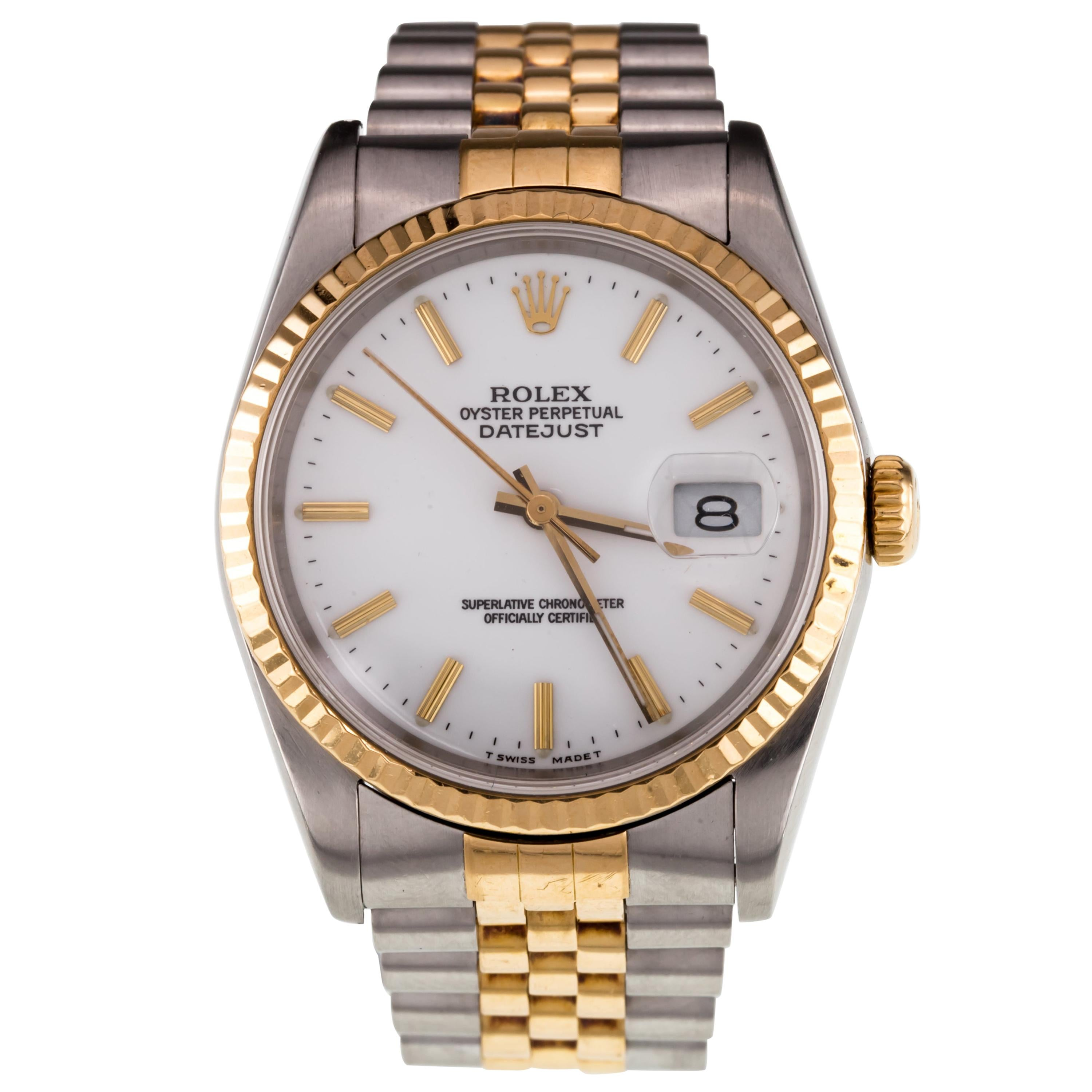 Rolex Men's Two Tone Stainless & Yellow Gold OPDJ Automatic Watch 16233