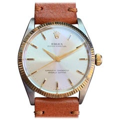 Rolex Men's Vintage Oyster Ref.1005 Automatic 14k and ss, c.1960s Swiss LV712brn