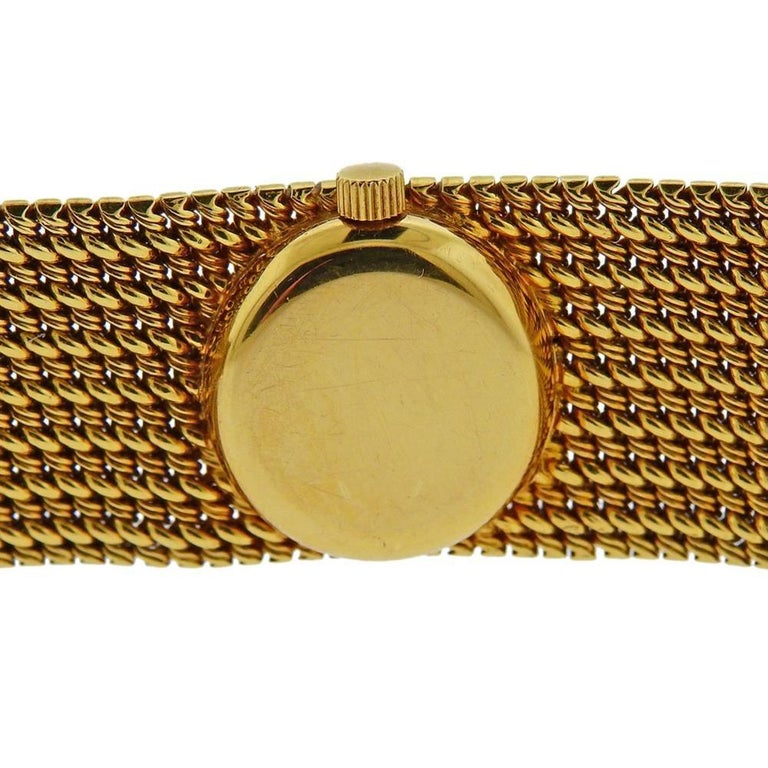 Women's Rolex Midcentury Gold Ladies Watch Bracelet For Sale