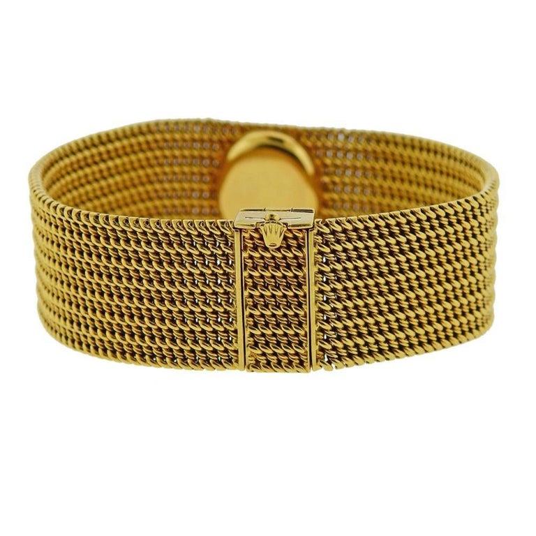 Rolex Midcentury Gold Ladies Watch Bracelet For Sale 2