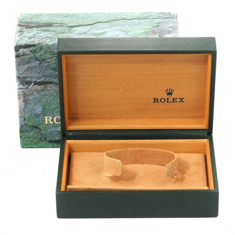 Rolex Midsize 31 Black Dial Domed Bezel Steel Ladies Watch 77080 For Sale 7