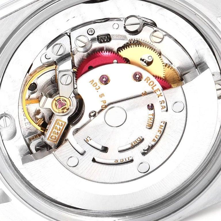 Rolex Midsize 31 Black Dial Domed Bezel Steel Ladies Watch 77080 For Sale 4