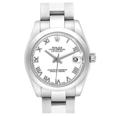 Rolex Midsize 31 Datejust White Dial Steel Ladies Watch 178240 Box Card