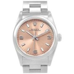 Rolex Midsize 31 Salmon Dial Oyster Bracelet Ladies Watch 67480