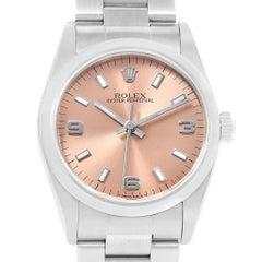 Rolex Midsize 31 Salmon Dial Oyster Bracelet Steel Ladies Watch 67480