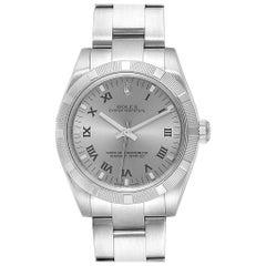 Rolex Midsize 31 Silver Rhodium Dial Steel Ladies Watch 177210