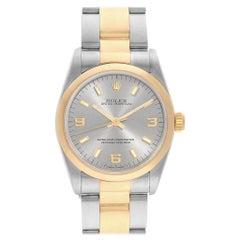Rolex Midsize Slate Dial Yellow Gold Steel Ladies Watch 67483