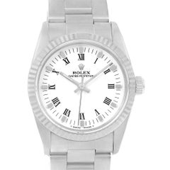 Rolex Midsize 31 Steel White Gold Ladies Watch 67514 Box Papers