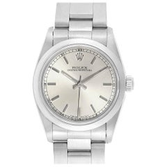 Rolex Midsize Silver Dial Automatic Steel Ladies Watch 67480