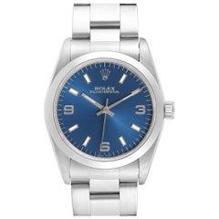 Rolex Midsize Blue Dial Automatic Steel Ladies Watch 67480