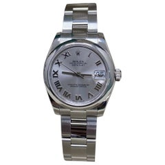 Rolex Midsize Datejust 178240 Roman Dial Stainless Steel Box Papers, 2014