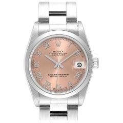 Rolex Midsize Datejust 31 Salmon Dial Ladies Steel Watch 68240