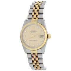 Rolex Midsize Datejust 68273 Diamond Dial Ladies Watch