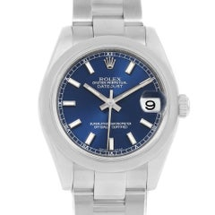 Rolex Midsize Datejust Blue Dial Stainless Steel Ladies Watch 178240