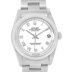 Rolex Midsize Datejust White Dial Ladies Steel Watch 68240