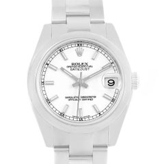 Rolex Midsize Datejust White Dial Stainless Steel Ladies Watch 178240