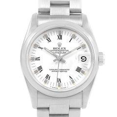 Rolex Midsize Datejust White Roman Dial Ladies Watch 68240
