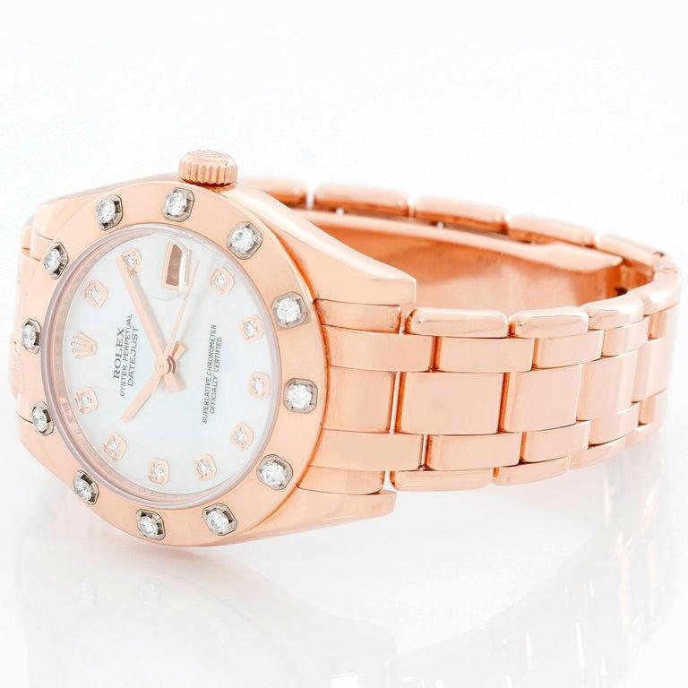 Rolex Midsize Masterpiece or Pearlmaster Everose Diamond
