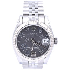 Rolex MidSize Stainless Steel Datejust with Flower Dial Watch Ref. 178274