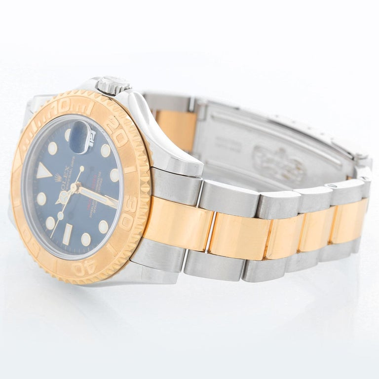 Women's or Men's Rolex Midsize Yacht-Master Steel and Gold Men's or Ladies Watch 168623 For Sale