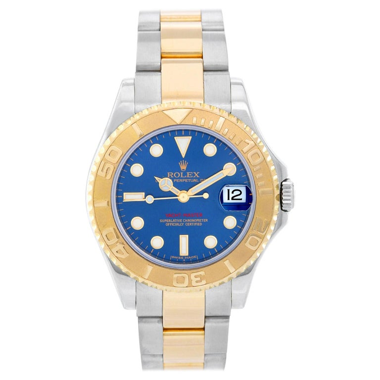 Rolex Midsize Yacht-Master Steel and Gold Men's or Ladies Watch 168623 For Sale