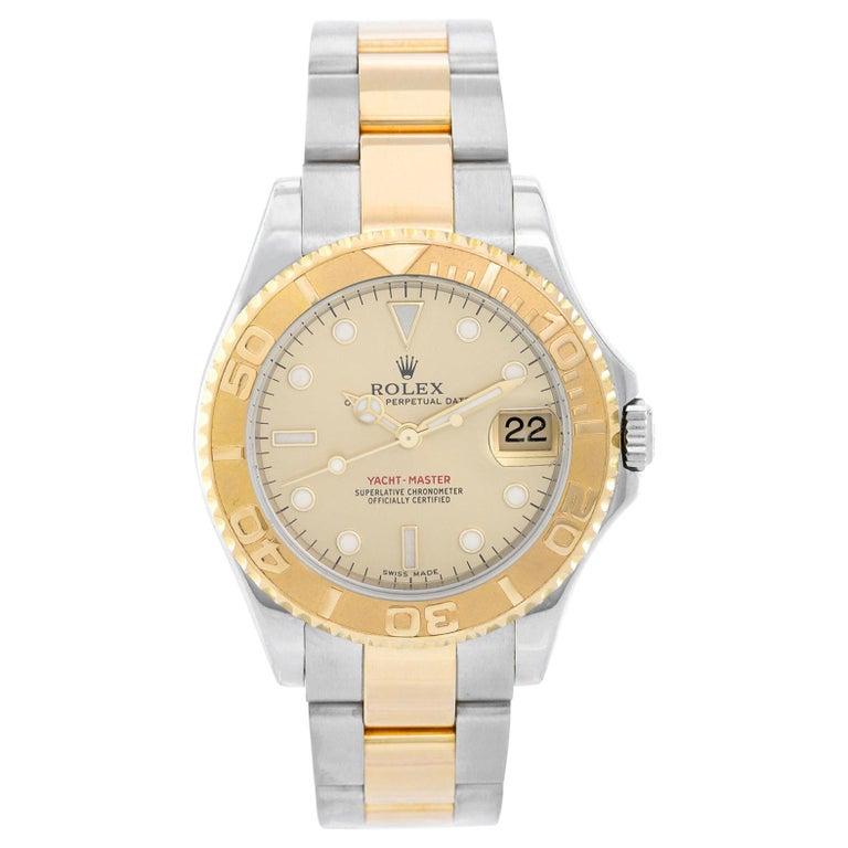Rolex Midsize Yacht-Master Steel & Gold Men's or Ladies Watch 168623 For Sale