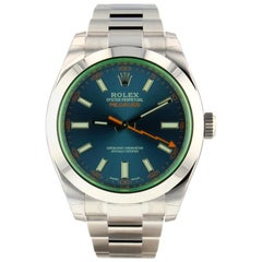 Rolex Milgauss 116400GV, Blue Dial, Certified and Warranty