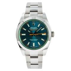 Rolex Milgauss 116400, Blue Dial Certified Authentic