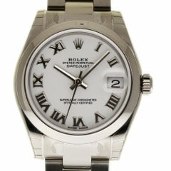 Rolex New Datejust 178240 Steel White Roman Box/Paper/5 Year Warranty #RL380