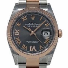 Rolex New Datejust 126231 Steel Gold Rhodium Diamond Box/Paper/Warranty #RL407