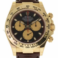 Rolex New Daytona 116518 Gold Leather Paul Newman Box/Paper/5 Year Warranty