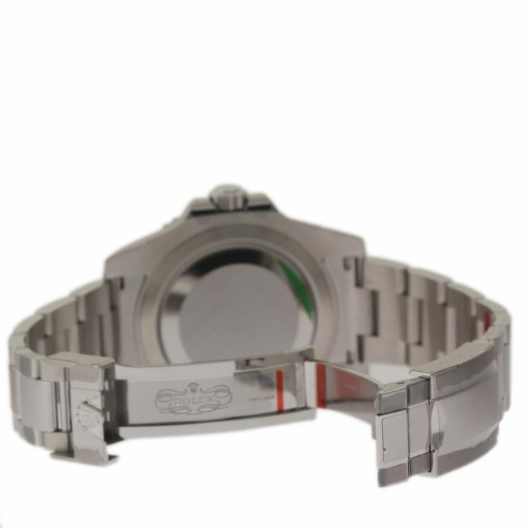 Contemporary Rolex New GMT-Master II 116710BLNR Steel Batman Box/Paper/Warranty 'Unworn' For Sale
