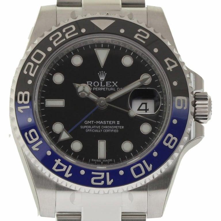 Rolex New GMT-Master II 116710BLNR Steel Batman Box/Paper/Warranty 'Unworn' In New Condition For Sale In Miami, FL