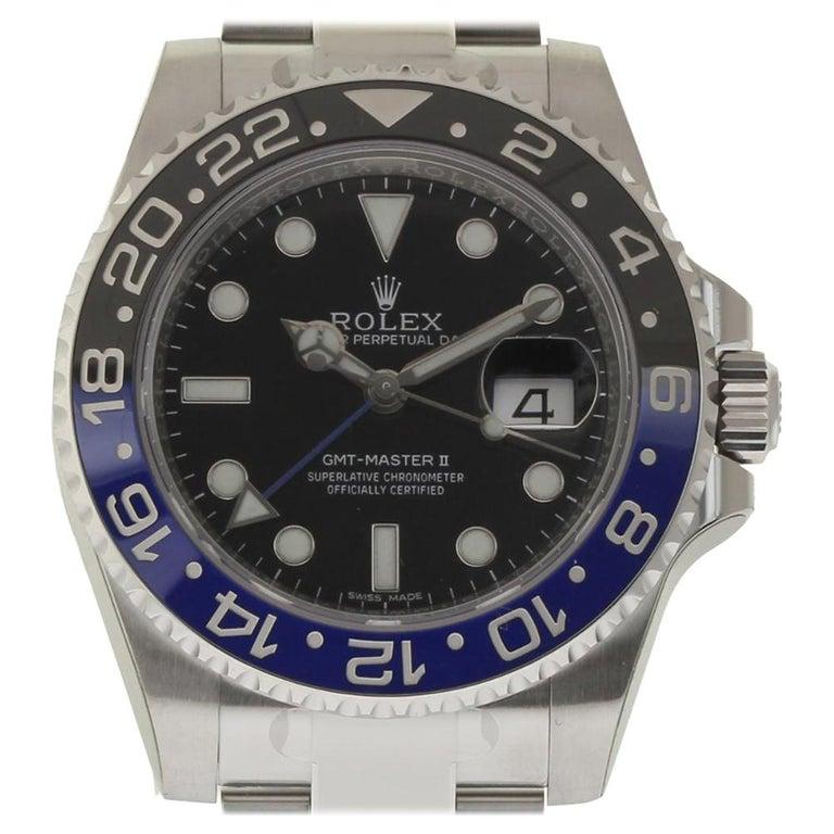 Rolex New GMT-Master II 116710BLNR Steel Batman Box/Paper/Warranty 'Unworn' For Sale