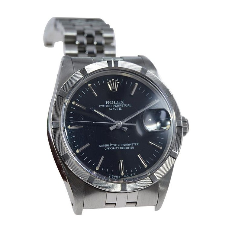 Rolex Oyster Date Perpetual Stainless Steel with Original Certificate, 1970 For Sale 5
