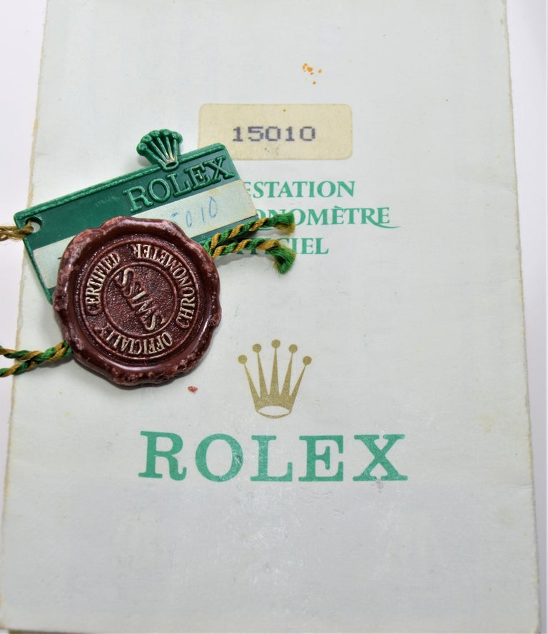 Rolex Oyster Date Perpetual Stainless Steel with Original Certificate, 1970 For Sale 7