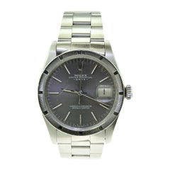 Rolex Oyster Date Ref.1501 Steel Blue Champagne Dial Watch, 'R-7'