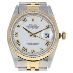 Rolex Oyster Datejust Men's Watch Stainless & 18k Gold Automatic 2Yr Wnty 16233