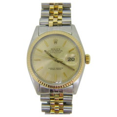 Rolex Oyster Datejust Perpetual 1978 Yellow Gold Stainless Steel Watch