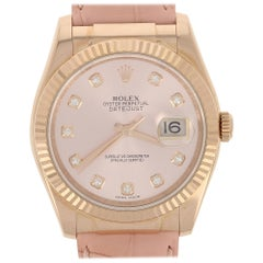Rolex Oyster Datejust Watch Factory Dial/Strap 18 Karat Gold Papers Wnty 116135