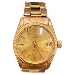 Rolex Oyster Perpatual Lady Datejust 28 Rose Gold Fluted Bezel Watch