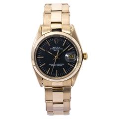 Rolex Oyster Perpectual Date 1500 Black Dial Mens Watch