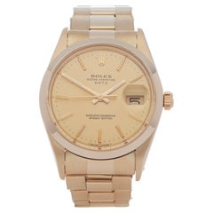 Rolex Oyster Perpetual 0 15007 Unisex Yellow Gold 0 Watch