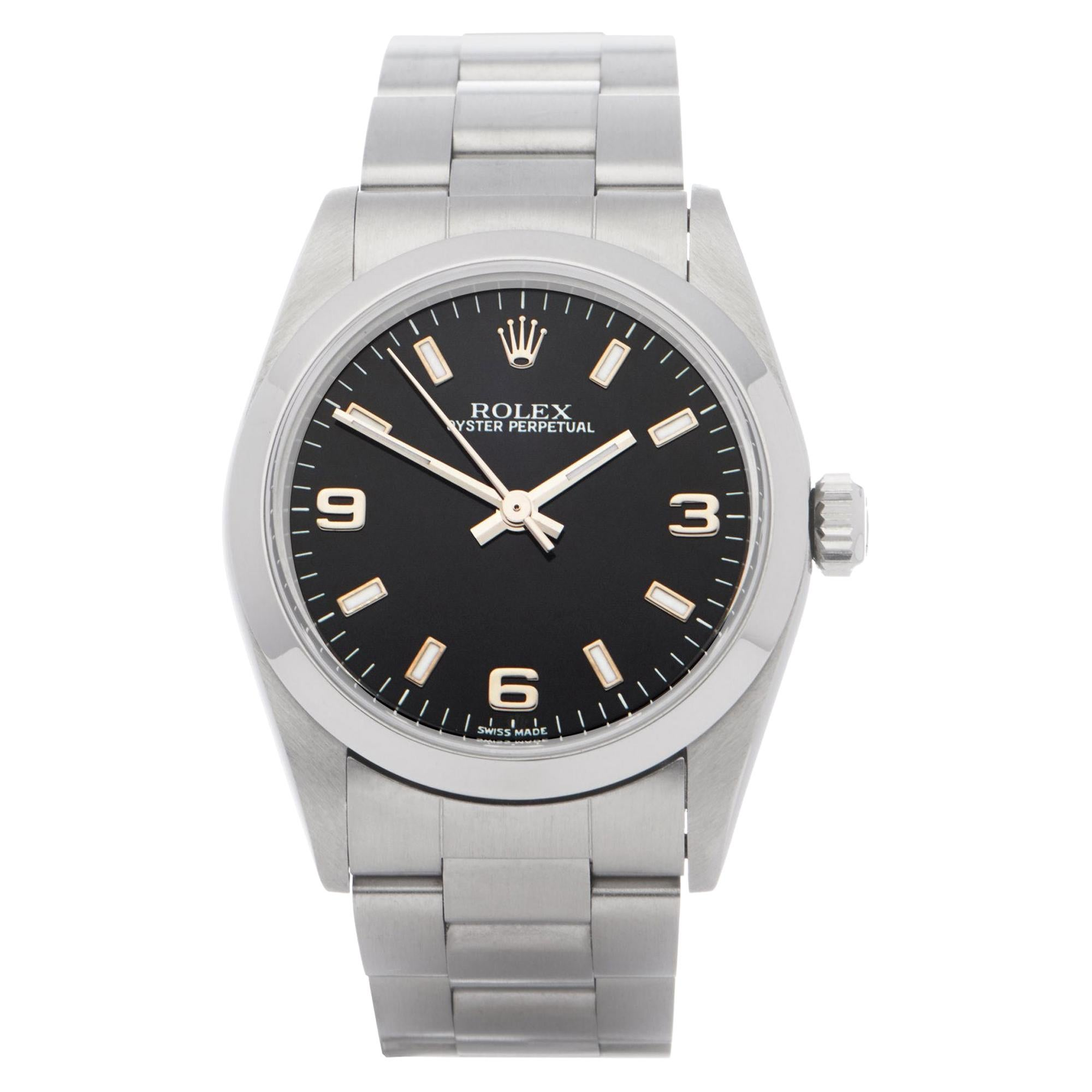 Rolex Oyster Perpetual 0 77080 Ladies Stainless Steel 0 Watch