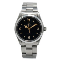 Rolex Oyster Perpetual 1002, Black Dial, Certified and Warranty