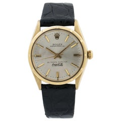 Rolex Oyster Perpetual 1003 Vintage Coca Cola Men's 14 Karat Gold Year 1966