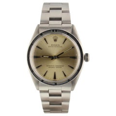 Rolex Oyster Perpetual 1007, Millimeters Silver Dial, Certified and Warranty