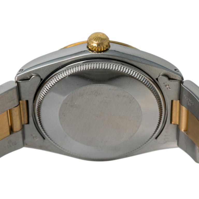 Men's Rolex Oyster Perpetual 1038 Automatic Unisex Watch Two-Tone 18k YG For Sale